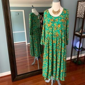Oakley Dress - Green & Yellow Floral